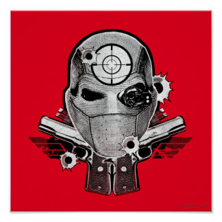 Suicide Squad | Deadshot Mask & Guns Tattoo Art Poster