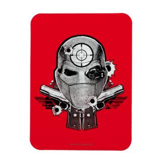Suicide Squad   Deadshot Mask & Guns Tattoo Art Rectangular Photo Magnet