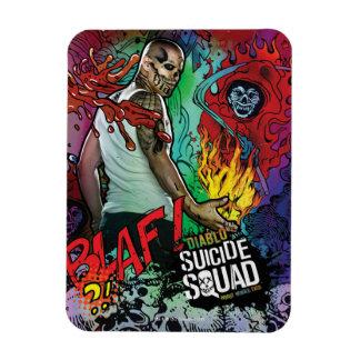 Suicide Squad   Diablo Character Graffiti Rectangular Photo Magnet