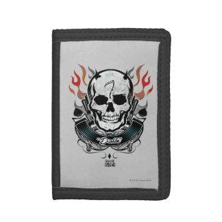 Suicide Squad | Diablo Skull & Flames Tattoo Art Trifold Wallets