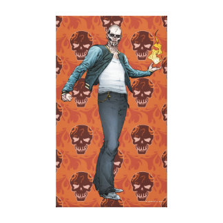 Suicide Squad | El Diablo Comic Book Art Stretched Canvas Print