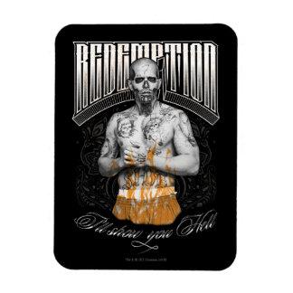 """Suicide Squad   El Diablo """"Redemption"""" Tattoo Rectangular Photo Magnet"""