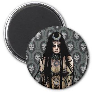Suicide Squad   Enchantress 6 Cm Round Magnet