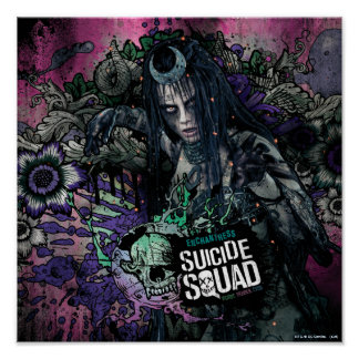 Suicide Squad | Enchantress Character Graffiti Poster