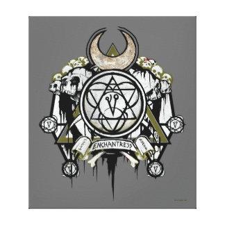 Suicide Squad | Enchantress Symbols Tattoo Art Canvas Print