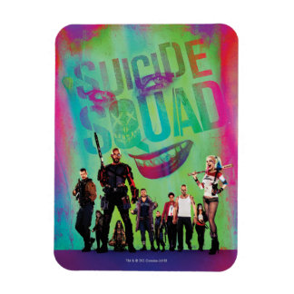 Suicide Squad | Green Joker & Squad Movie Poster Rectangular Photo Magnet