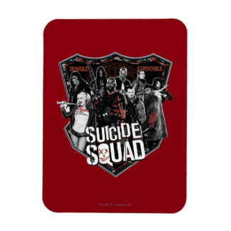 Suicide Squad | Group Badge Photo Rectangular Photo Magnet