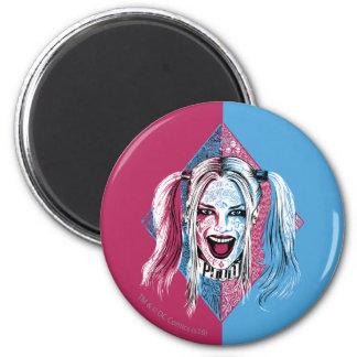 Suicide Squad   Harley Laugh 6 Cm Round Magnet