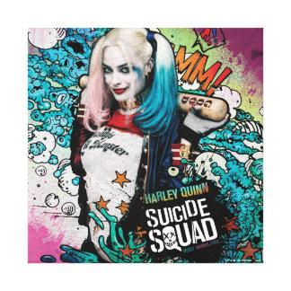 Suicide Squad | Harley Quinn Character Graffiti Canvas Print