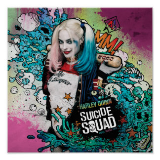 Suicide Squad   Harley Quinn Character Graffiti Poster