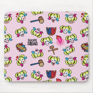 Suicide Squad | Harley Quinn Emoji Pattern Mouse Pad