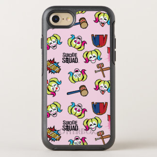 Suicide Squad | Harley Quinn Emoji Pattern OtterBox Symmetry iPhone 7 Case