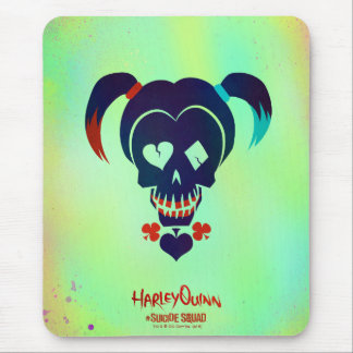 Suicide Squad   Harley Quinn Head Icon Mouse Pad
