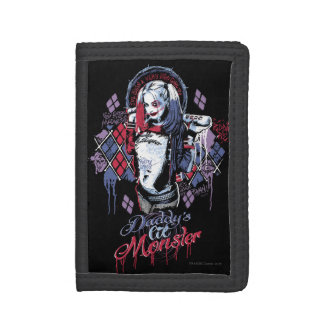 Suicide Squad | Harley Quinn Inked Graffiti Trifold Wallet