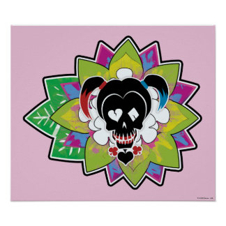 Suicide Squad | Harley Quinn Skull Tattoo Art Poster