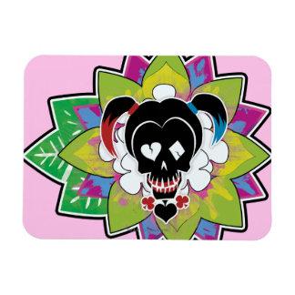 Suicide Squad   Harley Quinn Skull Tattoo Art Rectangular Photo Magnet