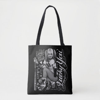 Suicide Squad | Harley Quinn Typography Photo Tote Bag