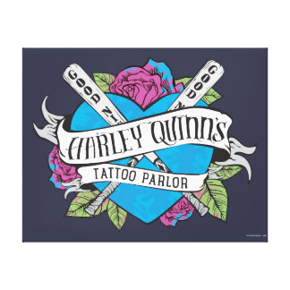 Suicide Squad | Harley Quinn's Tattoo Parlor Heart Canvas Prints