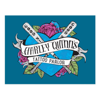 Suicide Squad | Harley Quinn's Tattoo Parlor Heart Postcard