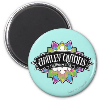 Suicide Squad   Harley Quinn's Tattoo Parlor Lotus 6 Cm Round Magnet