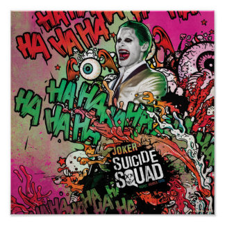 Suicide Squad | Joker Character Graffiti Poster