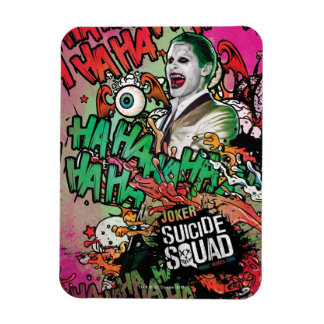 Suicide Squad | Joker Character Graffiti Rectangular Photo Magnet