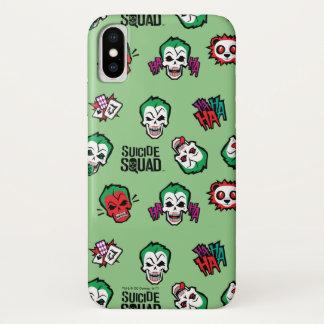 Suicide Squad   Joker Emoji Pattern iPhone X Case
