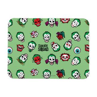 Suicide Squad   Joker Emoji Pattern Rectangular Photo Magnet