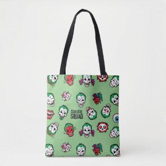 Suicide Squad | Joker Emoji Pattern Tote Bag