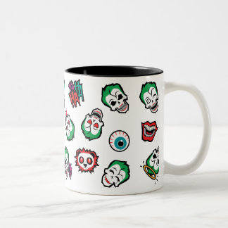 Suicide Squad   Joker Emoji Pattern Two-Tone Coffee Mug