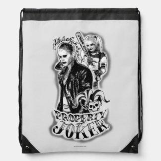 Suicide Squad | Joker & Harley Airbrush Tattoo Drawstring Bags
