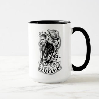 Suicide Squad   Joker & Harley Airbrush Tattoo Mug