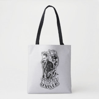 Suicide Squad | Joker & Harley Airbrush Tattoo Tote Bag