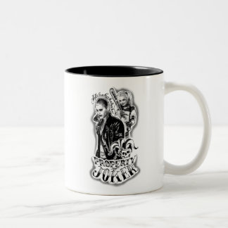 Suicide Squad   Joker & Harley Airbrush Tattoo Two-Tone Coffee Mug