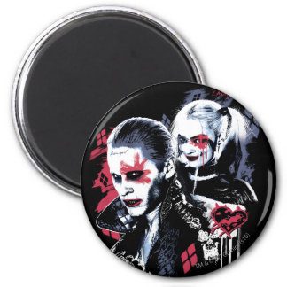 Suicide Squad | Joker & Harley Painted Graffiti 6 Cm Round Magnet