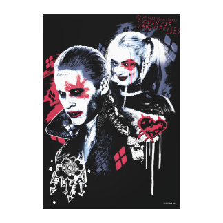 Suicide Squad | Joker & Harley Painted Graffiti Canvas Print