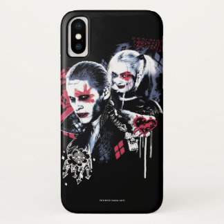 Suicide Squad   Joker & Harley Painted Graffiti iPhone X Case