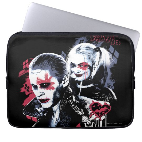 Suicide Squad | Joker & Harley Painted Graffiti Laptop Sleeve