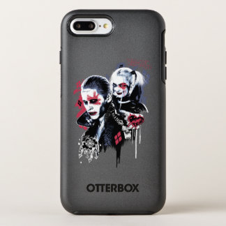Suicide Squad | Joker & Harley Painted Graffiti OtterBox Symmetry iPhone 7 Plus Case