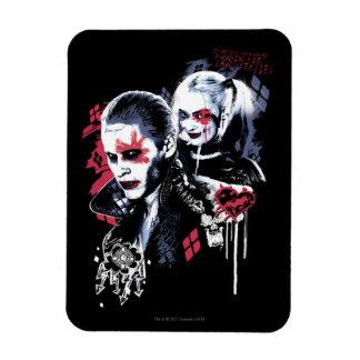Suicide Squad   Joker & Harley Painted Graffiti Rectangular Photo Magnet