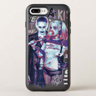 Suicide Squad | Joker & Harley Typography Photo OtterBox Symmetry iPhone 8 Plus/7 Plus Case