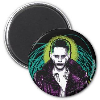 Suicide Squad   Joker Retro Rock Graphic 6 Cm Round Magnet