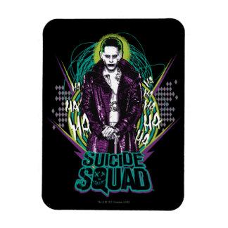 Suicide Squad   Joker Retro Rock Graphic Rectangular Photo Magnet