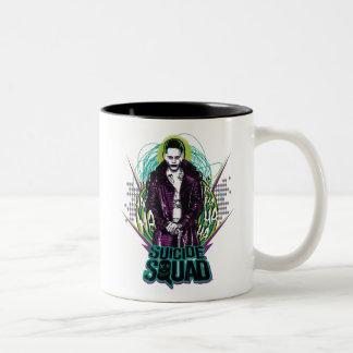 Suicide Squad   Joker Retro Rock Graphic Two-Tone Coffee Mug