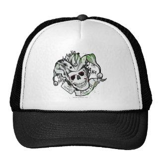 """Suicide Squad   Joker Skull """"All In"""" Tattoo Art Cap"""