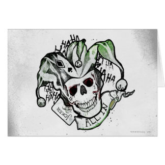 "Suicide Squad | Joker Skull ""All In"" Tattoo Art Card"