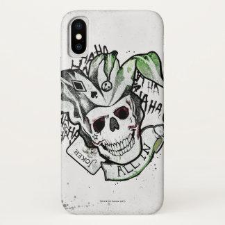 "Suicide Squad   Joker Skull ""All In"" Tattoo Art iPhone X Case"