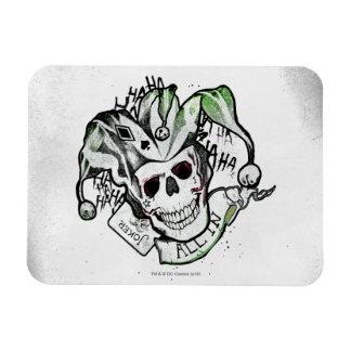 "Suicide Squad   Joker Skull ""All In"" Tattoo Art Rectangular Photo Magnet"