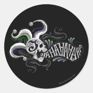 Suicide Squad | Joker Skull - Haha Classic Round Sticker