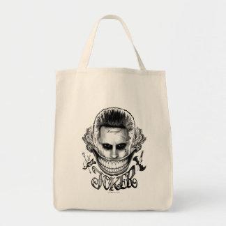 Suicide Squad | Joker Smile Grocery Tote Bag